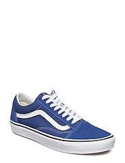 UA Old Skool (SUEDE)BLACK/B, 7.5, Medium - ESTATE BLUE/