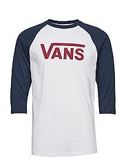 MN VANS CLASSIC RAGL WHITE/DRESS BLS - WHITE/DRESS BLS/BIKINGRED