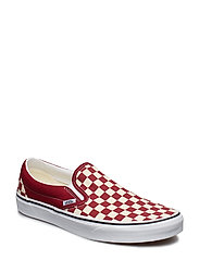 UA Classic Slip-On NEPTUNE, 10.5, Medium - (CHECKERBOARD) RUMBA RED/