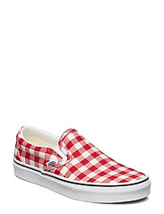 UA Classic Slip-On NEPTUNE, 10.5, Medium - (GINGHAM) RACING RED/TRUE