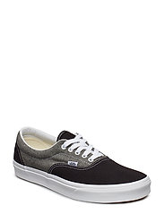 UA Era (CHECK FOXING), 10.5, Medium - (CHAMBRAY) CANVAS BLACK/T