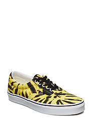 UA Era (CHECK FOXING), 10.5, Medium - (TIE DYE) BLAZING YELLOW/