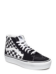 UA SK8-Hi Platform 2 CHECKE, 3.5, Medium - CHECKERBOARD/TRUE WHITE