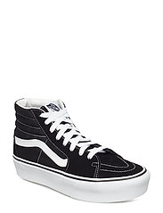UA SK8-Hi Platform 2 CHECKE, 3.5, Medium - BLACK/TRUE WHITE