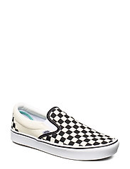UA ComfyCush Slip- (CHECKER, 3.5, Medium - (CLASSIC) CHECKERBOARD/TR
