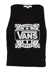 CALI NATIVE RIB TANK - BLACK