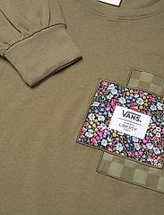 VANS - Top Womens Alpha - topjes met lange mouwen - (liberty fabric)brntolive - 2