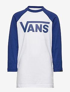 VANS CLASSIC RAGLAN BOYS - WHITE/SODALITE BLUE