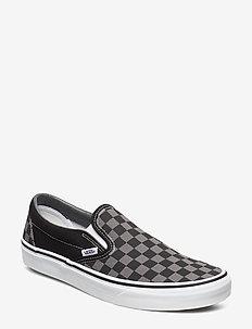 UA Classic Slip-On - lav ankel - black/pewter checkerboard