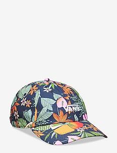 COURT SIDE PRINTED HAT - MULTI TROPIC DRESS BLUES