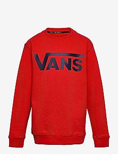 VANS CLASSIC CREW BOYS - sweatshirts - high risk red/dress blues