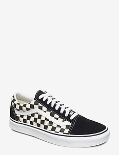 UA Old Skool - low tops - (primary check) blk/white