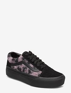 UA Old Skool Platform - chunky sneakers - (mix leopard) pink/black
