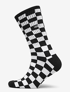 CHECKERBOARD CREW II (9.5-13, 1PK) - reguläre strümpfe - black/white check