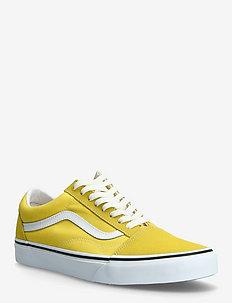 UA Old Skool - laag sneakers - cyber yellow/true white