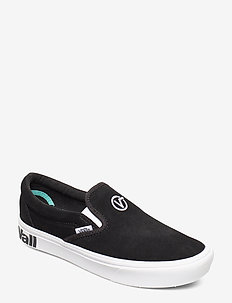 UA ComfyCush Slip- (DISTORT)BLACK/ - (DISTORT)BLACK/TRUE WHITE