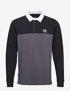 HI-POINT COLORBLOCK RUGBY - polos - black/asphalt