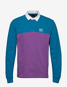 HI-POINT COLORBLOCK RUGBY - polos - turkish tile/dewberry
