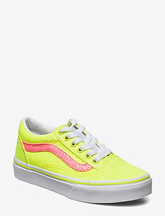 UY Old Skool - sneakers - (neon glitter)yellowtrwht