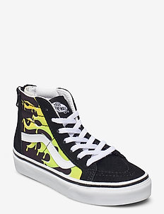 UY SK8-Hi Zip - hoog sneakers - (slime flame) blk/tr wht
