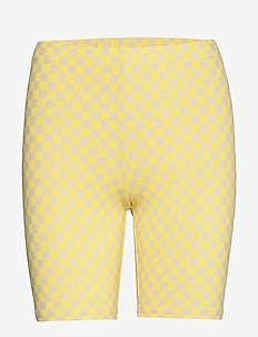 QUANTUM BIKE SHORT - LEMON TONIC CHECKERBOARD
