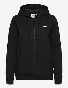 CLASSIC V ZIP HOODIE - hoodies - black
