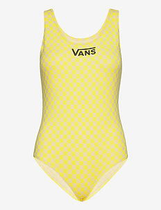 QUANTUM BODYSUIT - sportsbadetøy - lemon tonic checkerboard