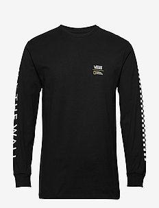 VANS X NAT GEO GLOBE LS - langarmshirts - black