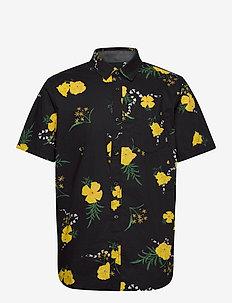 SUPER BLOOM FLORAL SS - chemises à manches courtes - black/super bloom