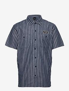 COLEMAN - chemises à manches courtes - dress blues stripe