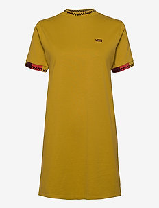 HI ROLLER TRI CHECK DRESS - sportklänningar - olive oil