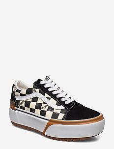 UA Old Skool Stacked - lage sneakers - (checkerboard) multi/true