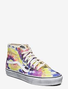 UA SK8-Hi Tapered - höga sneakers - (washed) tie dye/true wht