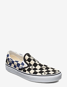 UA Classic Slip-On - (BIG CHECK) BLACK/NAVY