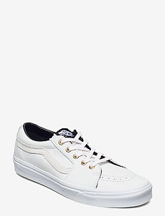 UA SK8-Low - lav ankel - (leather) true white