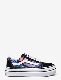 UA Super ComfyCush Old Skool - lage sneakers - (tropicali) blk/true wht