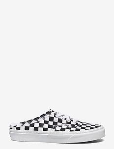 UA Authentic Mule - sko - (checkerboard) blk/truwht