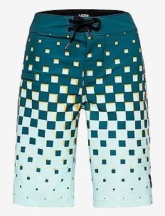 CHECKER FADE BOARDSHORT BOYS - shorts - moroccan blue
