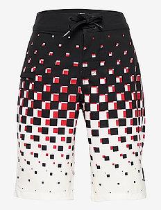 CHECKER FADE BOARDSHORT BOYS - shorts - black/white