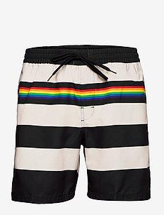 Swimwear Mens Alpha Alpha - shorts - black/rainbow