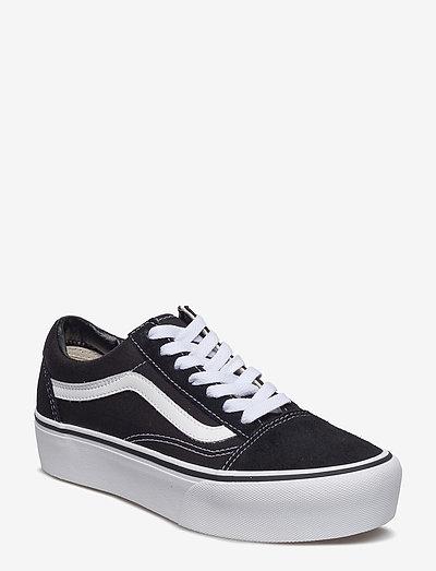 UA Old Skool Platform - chunky sneakers - black/white