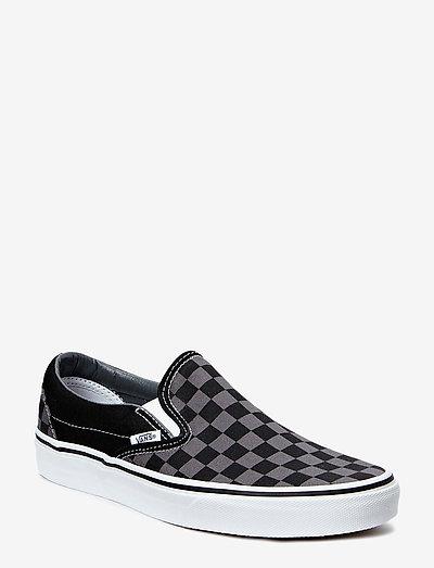 UA Classic Slip-On - slip on sneakers - black/pewter checkerboard
