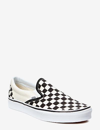 UA Classic Slip-On - slip-on sneakers - blk&whtchckerboard/wht