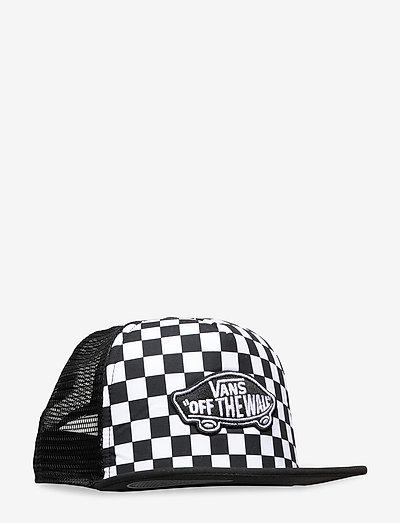 CLASSIC PATCH TRUCKER PLUS BOYS - mützen & caps - black-white checkerboard