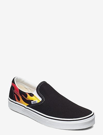 UA Classic Slip-On - slip on sneakers - (flame)black/black/tr wht