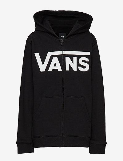 VANS CLASSIC ZIP HOODIE II BOYS - kapuzenpullover - black/white