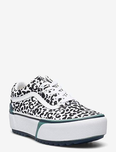 UA Old Skool Stacked - lave sneakers - (uv ink) leopard/true wht