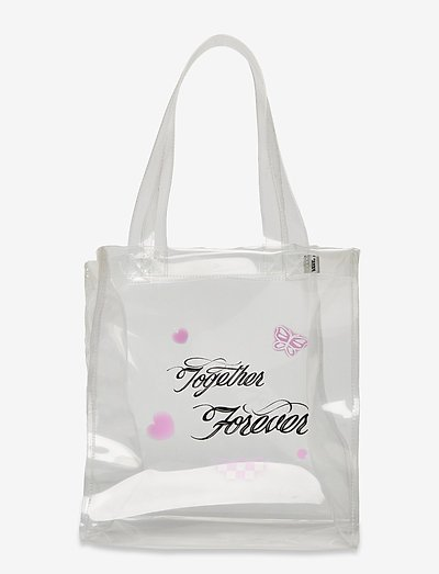 TOGETHER FOREVER MINI TOTE - tote bags - clear