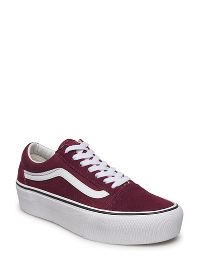 UA Old Skool Platform - chunky sneakers - port royale/true white