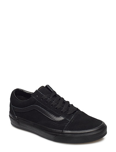 UA Old Skool (SUEDE)BLACK/B, 3.5, Medium - (SUEDE)BLACK/BLACK/BLACK